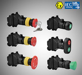 CZ0201 Explosion-proof push button for panel mounting